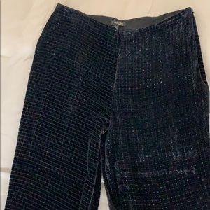 Fun wide leg velvet pants